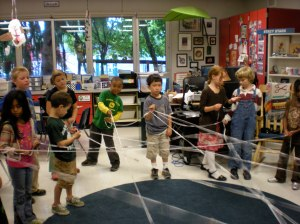 Before Stacy's class went into the garden, they did this web activity that shows that we are all connected.