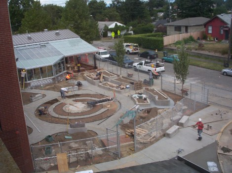 August 2008- Orca Garden under construction