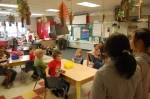 Talking to a 1st grade class