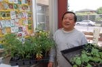 Yao Fu works with Marra Farm and Beacon Hill community gardens