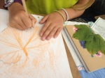 leaf rubbings!