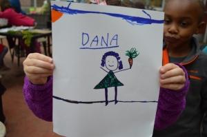 First day of kindergarten garden: priceless