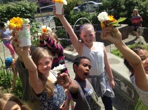 Toasting flowers