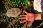 Can I put a handprint on the rock? yes, you can.